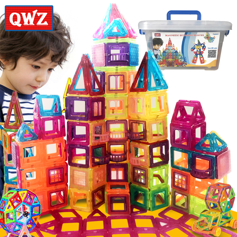 New 263PCS Magnetic Designer Construction Set Model Building Plastic Magnetic Blocks Educational Toys For Children Gift
