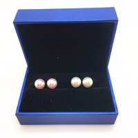 2018 New Year Jewelry Gift Ideas Under 20 With Blue Box S925 8mm Simulated Pearl Stud