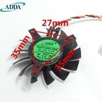 ADDA ventilador de la tarjeta Gráfica tarjeta de video fan Nueva X700 X700PRO Pitch 35*26*35mm 45mm diámetro cuchillas 12 V 0.10A AD0512MX-RB6