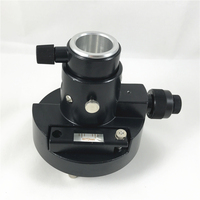 NEW BLACK TRIBRACH ADAPTER FOR TOTAL STATIONS PRISM SET WITH OPTICAL PLUMMET