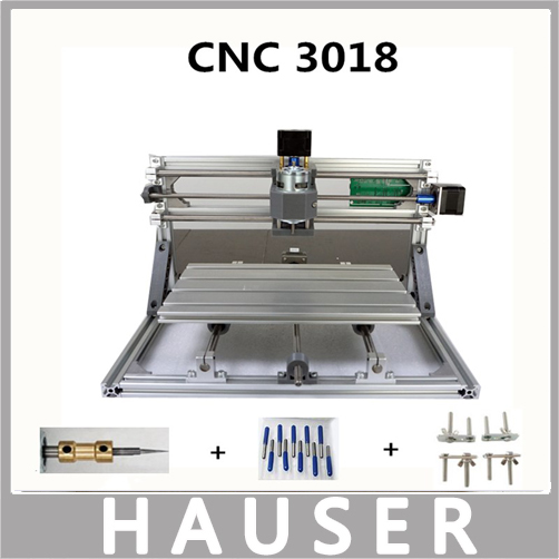 HCZ laser cnc CNC 3018  GRBL control diy laser engraving machine  cnc, 3 axis pcb milling machine, wood cnc router,Woodcarving cnc router wood milling machine cnc 3040z vfd800w 3axis usb for wood working with ball screw