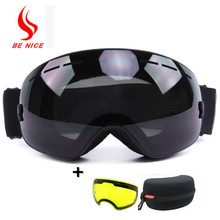 BINICE New ski snowboard Men &Women Adult anti-fog Duable lens Ski Goggles ski glasses Mask Outdoor Snowboard lens Goggles