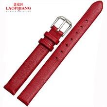 Laopijiang correa de cuero para mujer accesorios de relojes correa 6 | 8 | 10 mm correa de moda