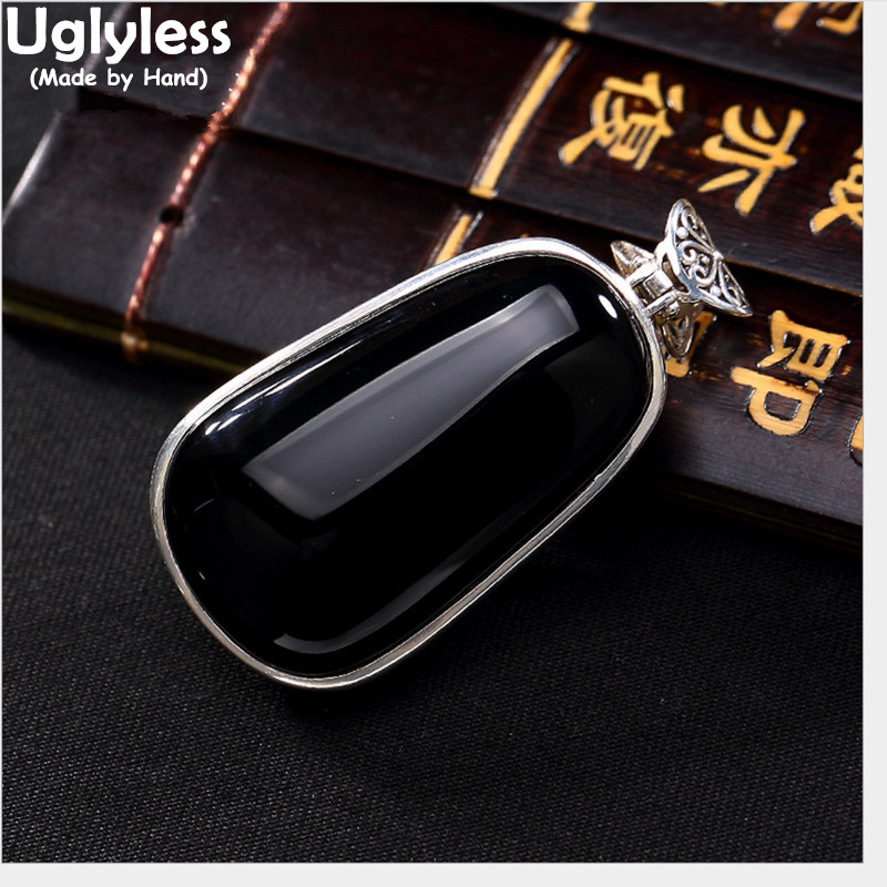 Uglyless Real 925 Sterling Silver Women Natural Chalcedony Necklaces without Chains Carved Buddha Statue Pendants Jewelry EthnicUglyless Real 925 Sterling Silver Women Natural Chalcedony Necklaces without Chains Carved Buddha Statue Pendants Jewelry Ethnic