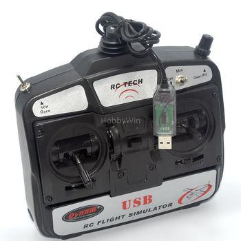 Dynam 6 Canales USB RC Vuelo Simulador 6CH Modelo Avión PC Juego Trainner