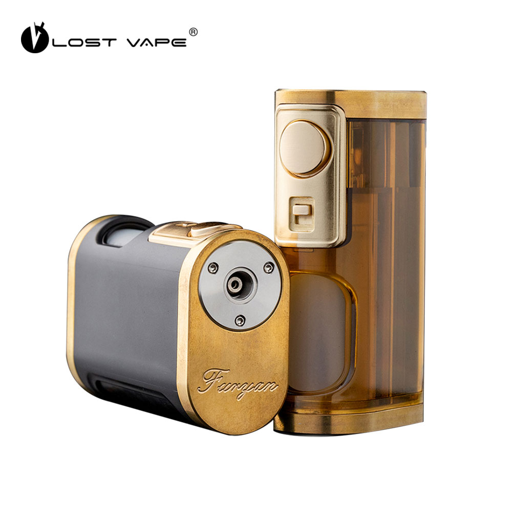 Original Electronic Cigarette Lost Vape Furyan Mech Squonker Box Mod 9ML Powered By Single 18650 20700 21700 Battery Vape Mod
