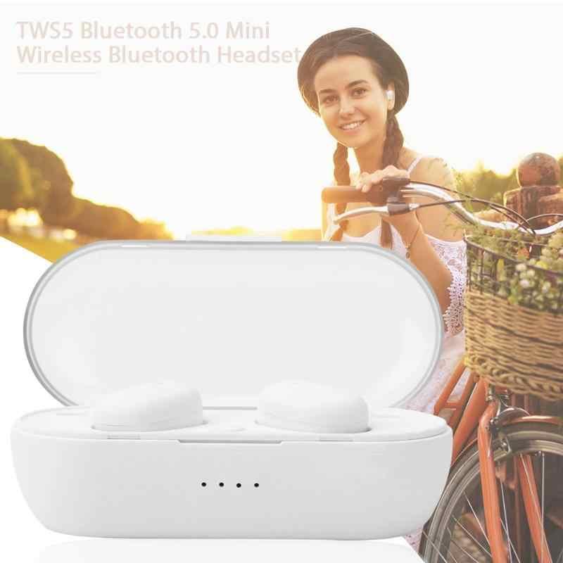 TWS4 ミニワイヤレス Bluetooth 5.0 イヤホン w/マイク充電ボックスディスプレイ高感度マイクはハンズフリーコール