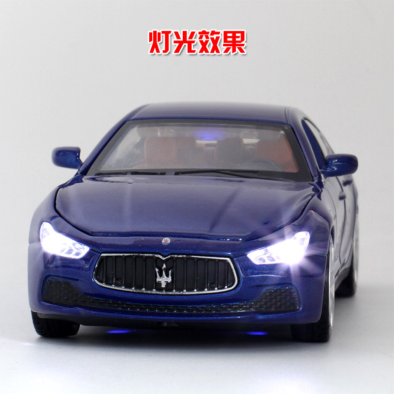 DIECAST METAL 1:32 MODEL CAR TOYS SOUND LIGHT PULL BACK for MASERATI GHIBLI S ...