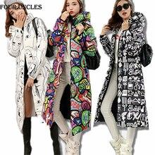 2016 Autumn Winter Women Long Jacket Coat Fashion New Winter Hooded Coat Jackets Down Padded Korean Plus size Slim Jacket,MM0062