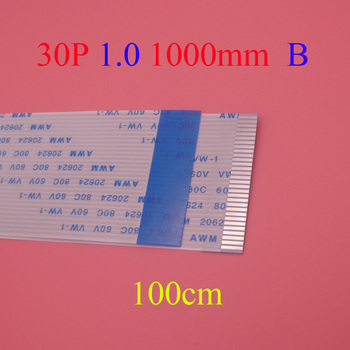 20pcs New FFC FPC flat flexible cable 1.0mm pitch 30pin Reverse / Anisotropy Length 1000mm Ribbon Flex Cable