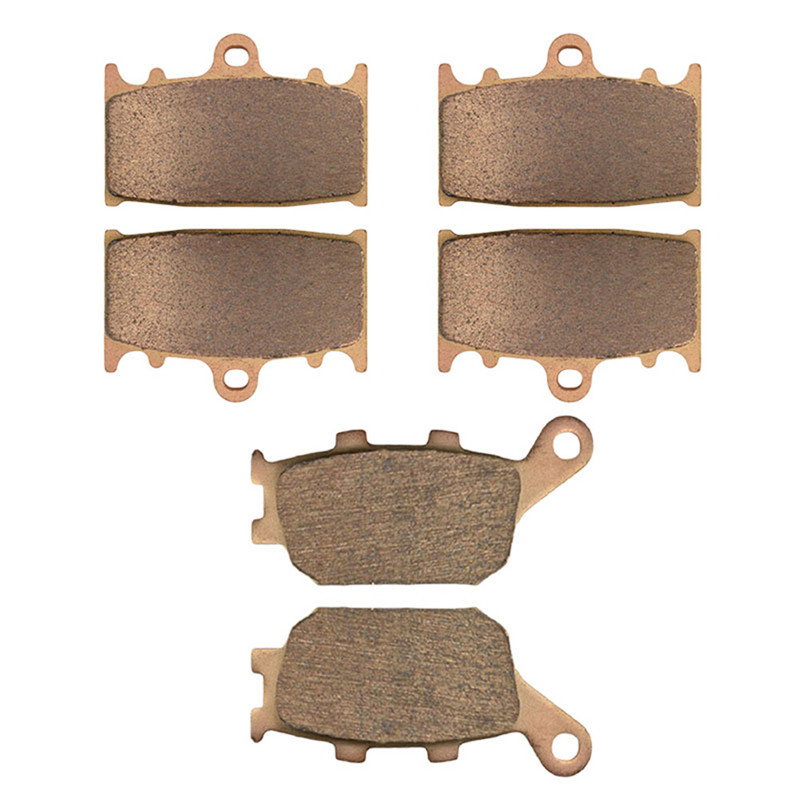 Motorcycle Parts Copper Based Sintered Motor Front & Rear Brake Pads For Suzuki GSX650 GSX 650 2008-2009 Brake Disk sintered copper motorcycle parts fa252 front brake pads for yamaha fzs 600 fazer 98 03