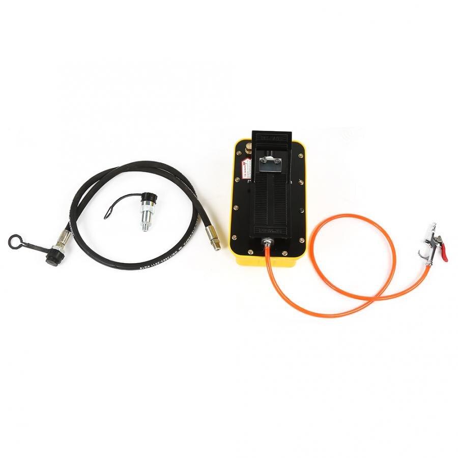 Pompe hydraulique pneumatique 2.3L Air pompe à pied hydraulique 3/8 NPT simple effet avec coupleur de tuyau pince à sertir hydraulique