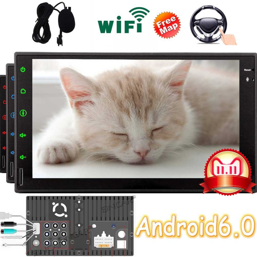 US $193 77 5% OFF|AM FM Radio Receiver Support Bluetooth/1080P  Video/Mirrorlink/WiFi 7 Inch HD Digital Touch Screen Car Stereo TWO 2 Din  Head Unit-in
