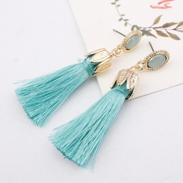 Leaf Fashion Tassel Earrings For Women