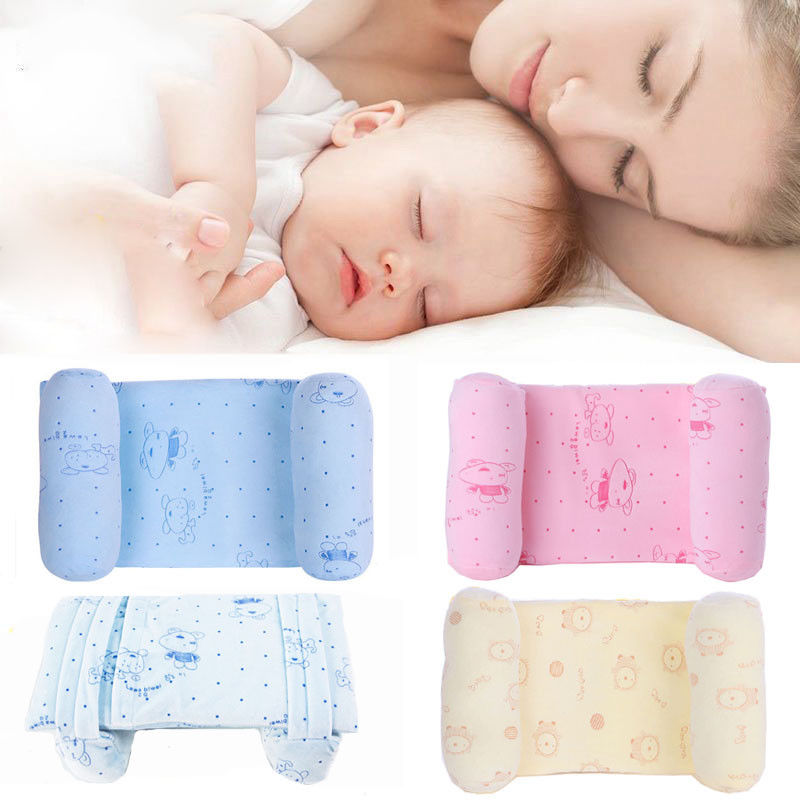buy new newborn baby anti roll pillow and head positioner sleep cushion to prevent flat head for babies online