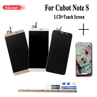 Alesser For Cubot Note S LCD+Touch Screen+Colorful Case And Front Frame Assembly Repair Parts for Cubot Note S Phone
