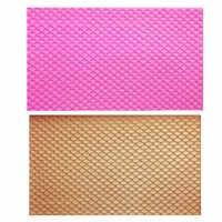 M0809 tapis de dentelle sirène poisson échelle Silicone moule bricolage Fondant Embosser serpent Texture gâteau moule décoration moule Gumpaste