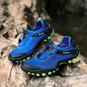 23d25106d Лидер продаж; Летняя мужская повседневная обувь для взрослых; дышащая повседневная  обувь из сетчатого материала; мужские кроссовки; Мужска..