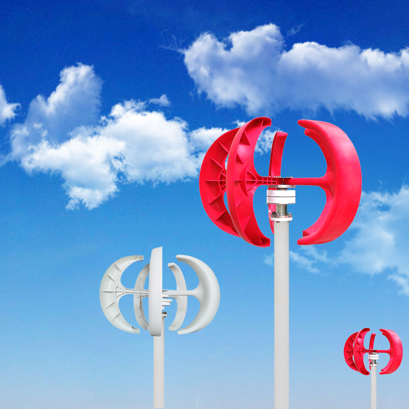 Red-Lantern-Style-Vertical-Axis-Wind-Power-Turbine-Generator-Automatic-Adjustment-VAWT-200W-100W-300W-DC