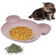 Pet один мята приманка чаша мода ежедневно Фидер для кормления для щенка собаки кошки удобные пищевые пластины кошки поставки