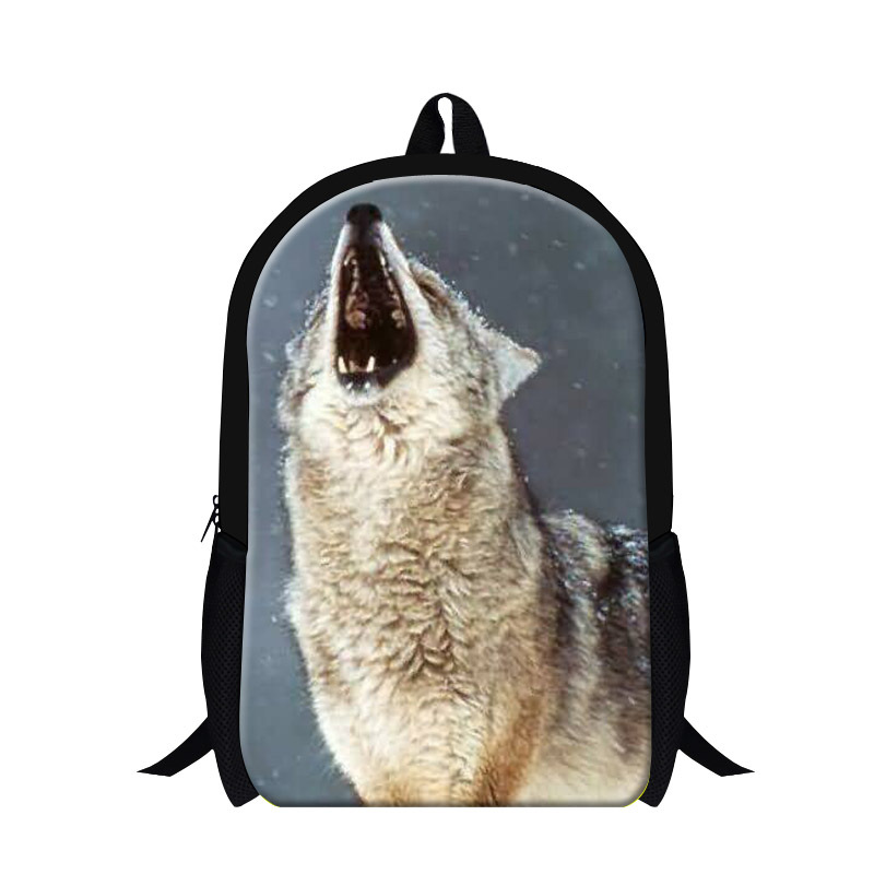 Cool Wolf 3D print middle school backpacks,fashion book bags for school boys,childrens day backpacks,mens back pack lightweight