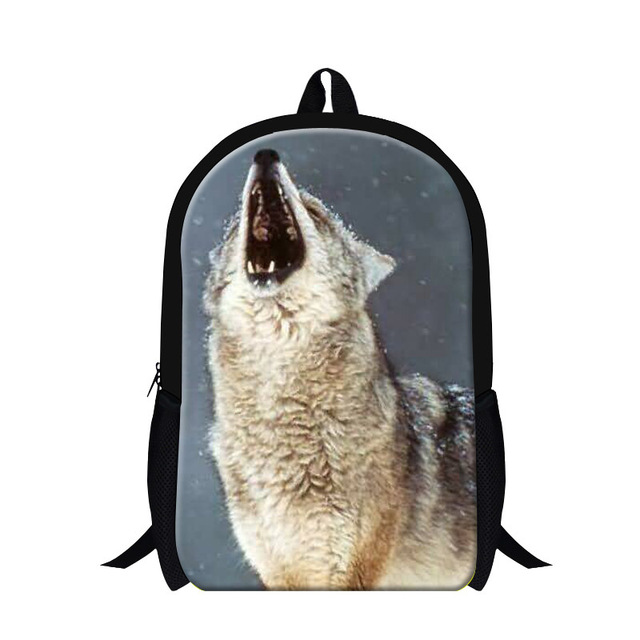 Cool Wolf 3d Print Middle School Backpacks Fashion Book Bags For Boys Children S