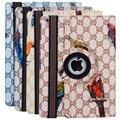 Funda для iPad Mini Case 2016 Новый Модный Бренд 360 Градусов Вращения птица Печати Кожаный Чехол для Apple iPad Mini 1 2 3 4