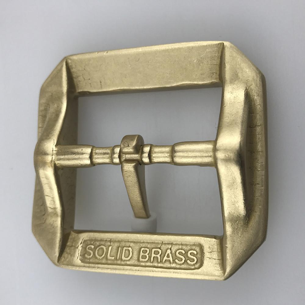 CUKUP 3.7-3.9cm Wide Belt Paties Buckles only Heavy Design Geometric Pattern Solid Brass Belts Pin Buckle Metal for Men BRK003