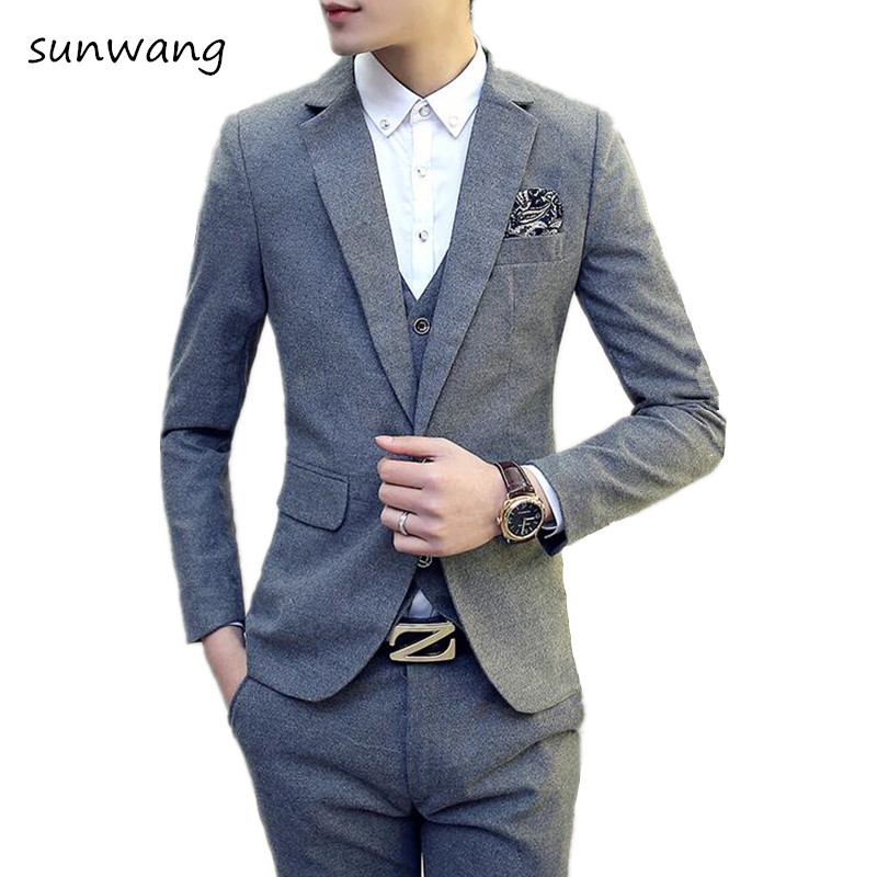 Popular 3 Button Double Breasted Suit-Buy Cheap 3 Button Double ...