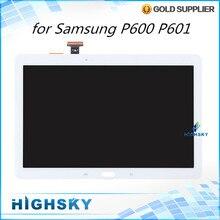 1 unidades el envío libre de piezas de repuesto de pantalla para samsung galaxy nota 10.1 2014 Edición P600 P601 pantalla lcd + touch digitalizador