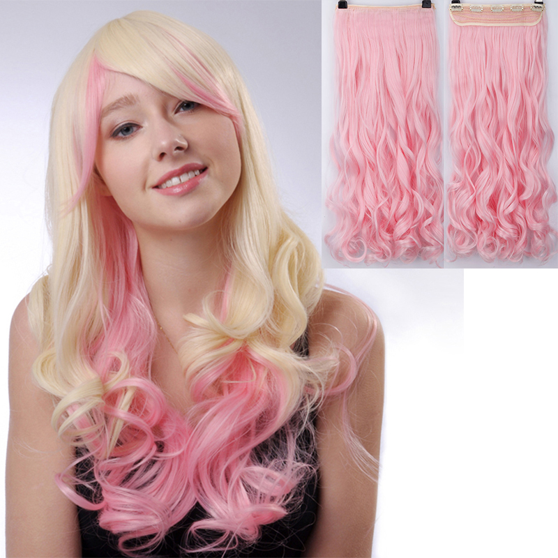 2460cm synthetic clip in hair extensions curly wavy heat 2460cm synthetic clip in hair extensions curly wavy heat resistant hairpiece natural hair extension pink gray halloween hair on aliexpress alibaba pmusecretfo Choice Image