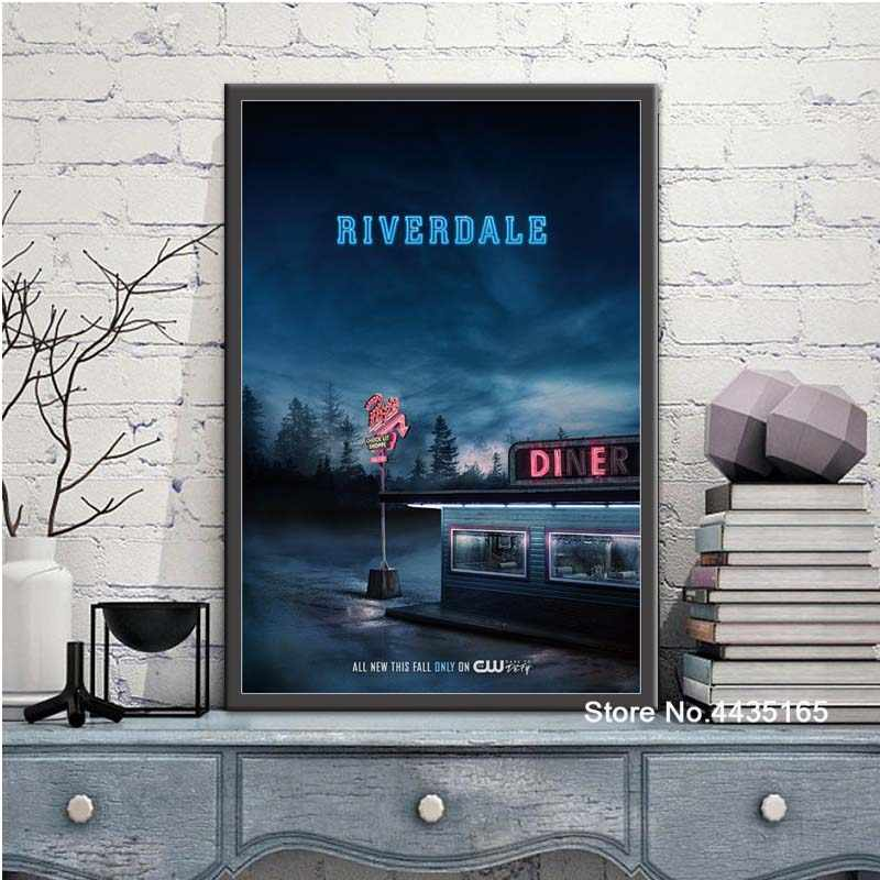 Nice Riverdale Poster Custom Satin Poster Print Canvas Painting Wall Art Picture Posters and Prints Modern Decoration