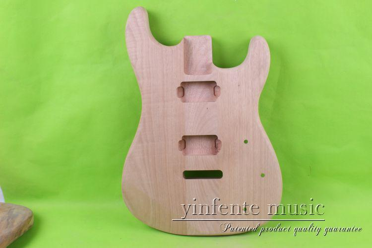 купить one   Unfinished electric guitar body mahogany wood made   and maple top 25 # дешево