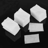 900 stücke 5 STÜCKE Weiß Fusselfrei Nail art Wipes Papier-gel-acrylspitze-polnisches Remover Reiniger 6 cm PCS 5 cm