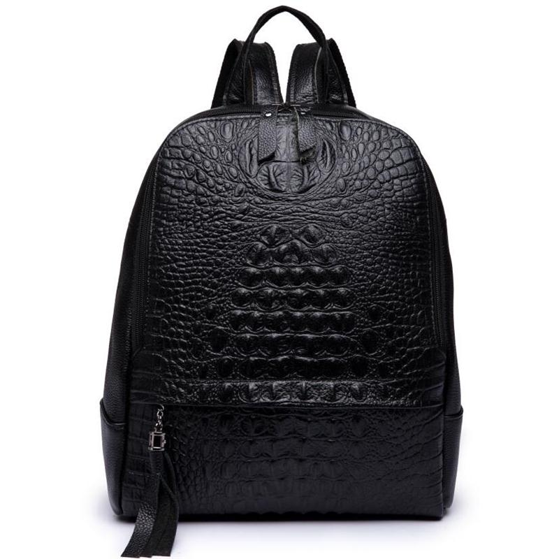 2018 female genuine leather backpack large capacity women