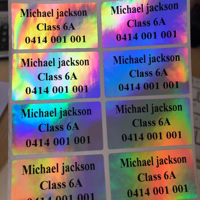 Iridescent Wedding Personalized Stickers Return Address Labels Envelop Birthday Party Decoration Favor Bag Souvenirs Box Tags