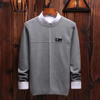 High Quality Sweater Men O-Neck Autumn Winter Thick Warm Men Brand Sweater Cotton Mens Knitted Pullover Sweaters Pull Homme