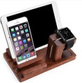 Bambú Original de Soporte de Carga Dock Station Soporte Accesorios Para IPhone6s más para el reloj ipad mini para ipad air tablet pc