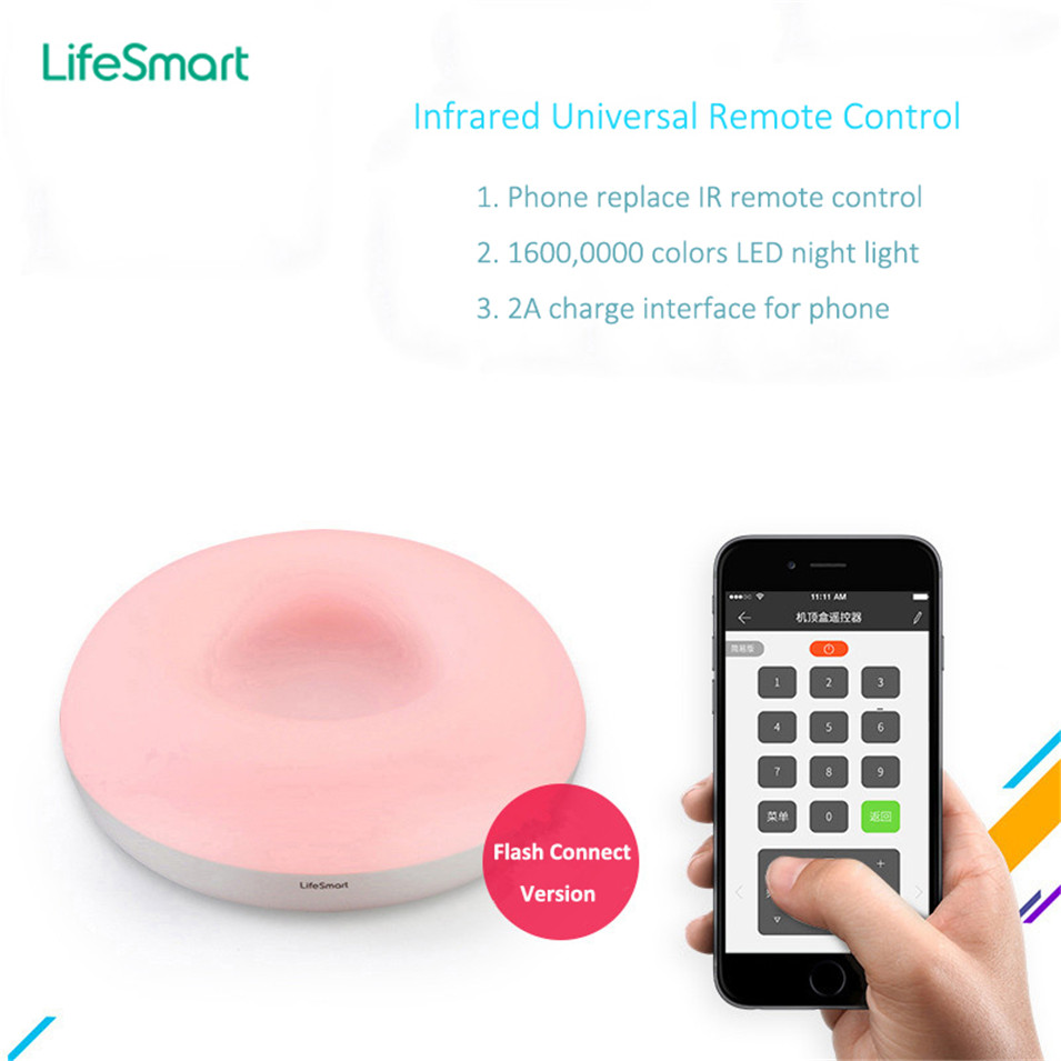 New Lifesmart Spot Smart WiFi Wireless Intelligent IR Universal Remote Controller Led Night Light IOS Android Flash Link детская игрушка new wifi ios