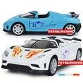Горячая моделирование литья под давлением супер спортивный автомобиль 1:32 Koenigsegg один 1 модель со светом и звуком отступить сплава toys для детей подарки