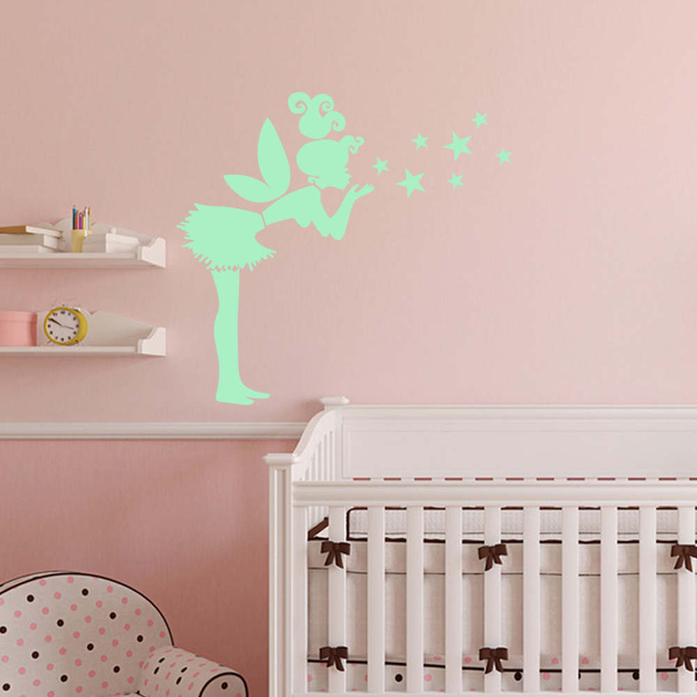 Tinkerbell wall stickers todosobreelamorfo tinkerbell wall stickers funlife tinkerbell wall stickers for rooms noctilucent glow amipublicfo Images