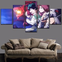 My Hero Academia Anime Canvas Wall Art Home Picture 5 Pieces Paintings Modern Decor Living Room