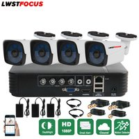 LWSTFOCUS 4CH 1080N HDMI DVR 3000TVL 1080P HD Outdoor Security Camera System 4 Channel CCTV Surveillance