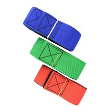 Good Quality New 2Pcs/Set 4 Legged Race Bands Outdoor Game for Kids Adults Birthday Team Party Games-random color