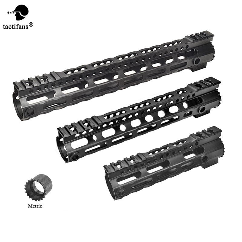 AR-15 M4 Ultra lightweight Free Float Handguard Tactical 20mm Picatinny Rail Base Forend Scope Mount M-LOK 7.25'' 10'' 12.5''