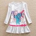 АККУРАТНЫЕ оптовая Новый девочка одежда колледж стиль девушки платья my little pony дети одежда С Длинным рукавом платье LD6660