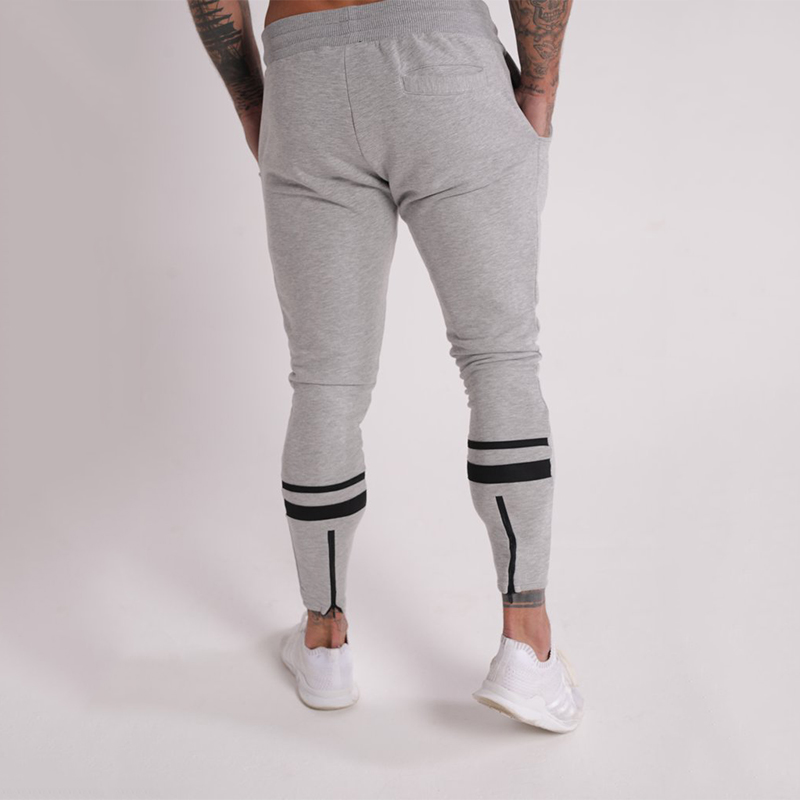 Image 5 - GYMOHYEAH Joggers Male Trousers Casual Pants Men Sweatpants Jogger Casual Elastic cotton GYMS Fitness Workout panTS black gray-in Skinny Pants from Men's Clothing