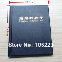 Durable 200 Coins Collection Holders Storage Money Penny Pocket Album Book Folder 24.5*29.5cm pocket album for coin collection