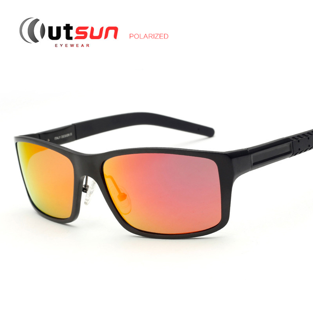 c4fba8d42e OUTSUN Aluminum Men s Polarized Sunglasses Brand Designer Stylish  Driving Fishing Golf Outdoor Sport Mirror