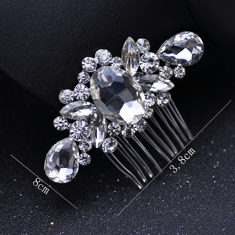 Hair-Combs Bridal-Jewelry-Accessories Bridal-Hairpin Rhinestone Brides Full-Crystal Women